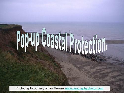 Coastal defence - pop-up model