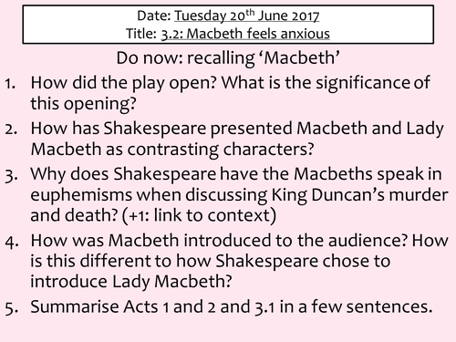 how is macbeth presented in act
