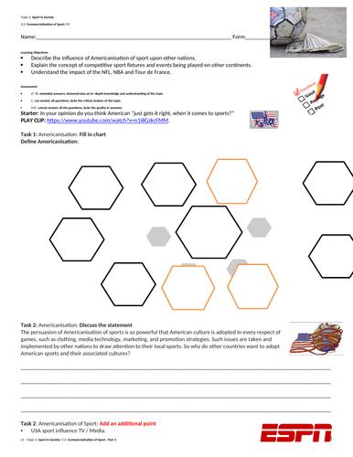 A Level Pe Edexcel Spec 2016 Commercialisation Of Sport Part 3 Teaching Resources