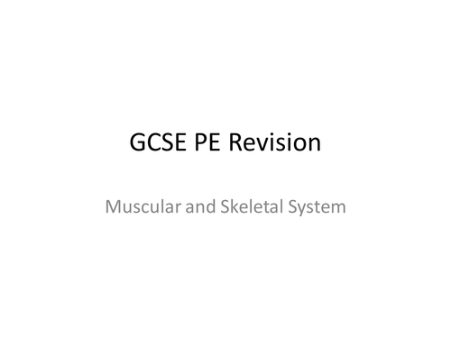 GCSE PE revision (starter or fun quiz to use in lesson)