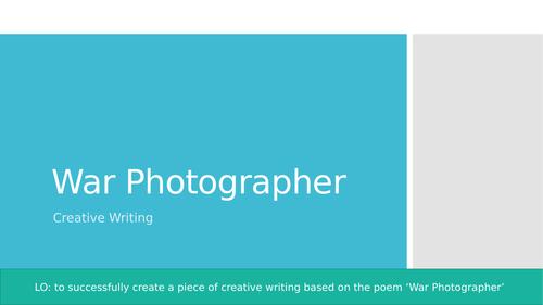 War Photographer Creative Writing Lesson