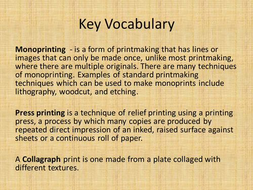 Art - Printing on material or paper