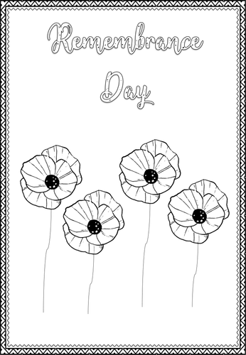 REMEMBRANCE DAY COLOURING