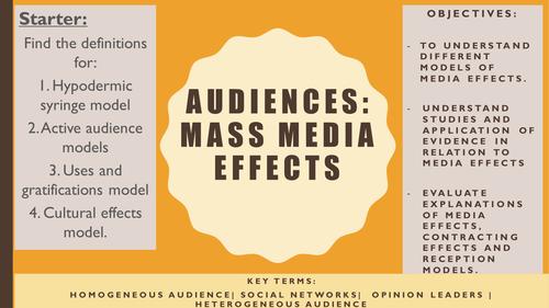 AQA A2 Sociology- Mass Media: Effects of Mass Media