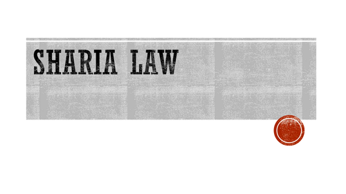 Sharia law - you tube & extra reading AS/A2 GCSE