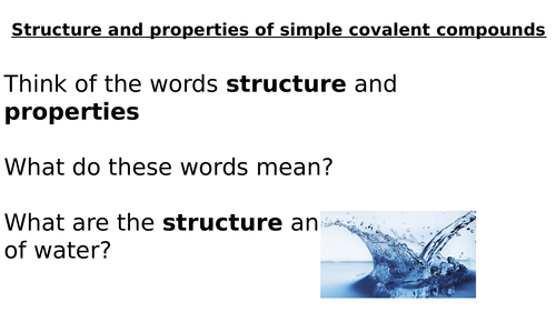 Structure and properties of covalent molecules