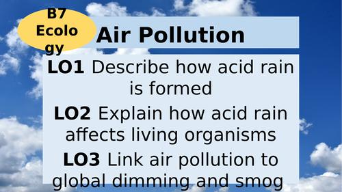 AQA GCSE Biology B7 Ecology - Air Pollution