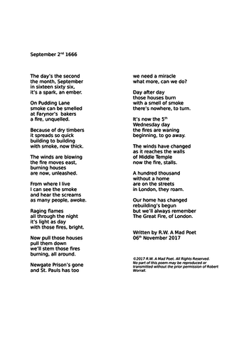 A Poem About the Great Fire of London