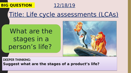 AQA new specification-Life cycle assessment-C12.5