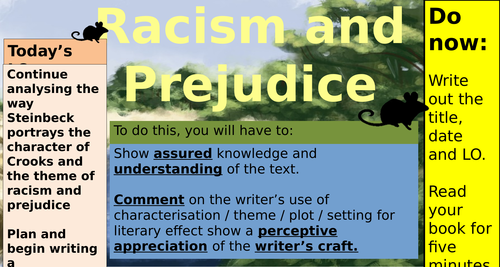 Crooks, Prejudice and Racism (Of Mice and Men)