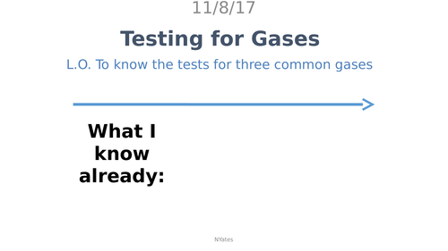 Testing for Gases
