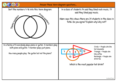 Venn Diagrams And Sets 4 Mixed Questions New Maths Gcse