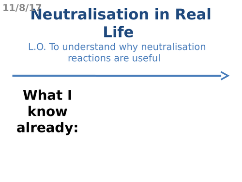 Neutralisation in Real Life