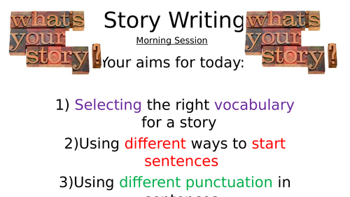 Story Writing Lower Learners