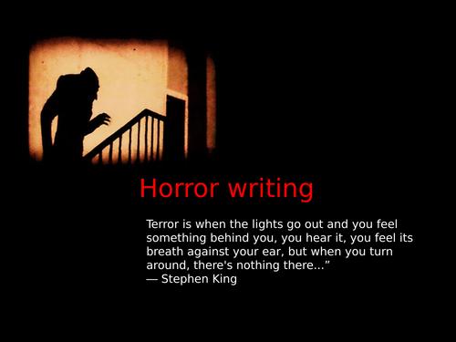 Horror Writing Lesson