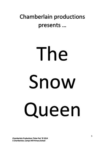 """""""The Snow Queen"""" KS2 Production (script)"""