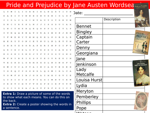 pride and prejudice words