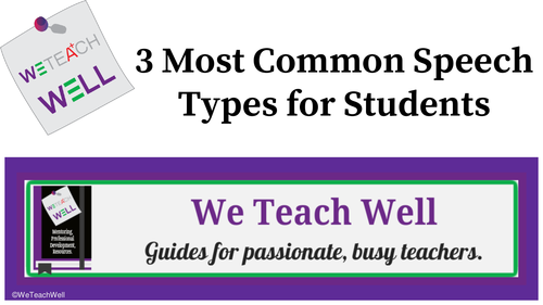 3 Most Common Speech Formats for Students