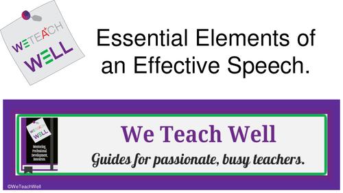 Essential Elements of an Effective Speech.