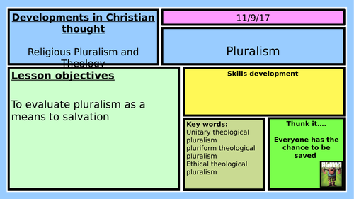 NEW OCR A LEVEL RELIGIOUS STUDIES 2016: DCT: RELIGIOUS PLURALISM