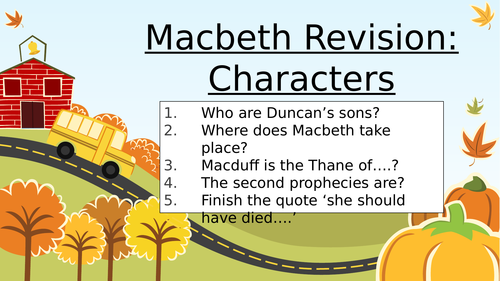 Macbeth Character Revision Collaboration Activity