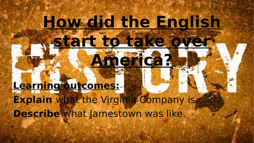 The Virginia Company and Jamestown