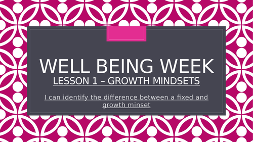 Growth Mindset (lesson and activities all on PowerPoint)