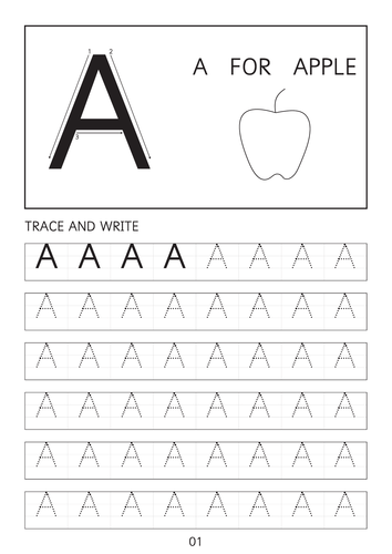 Set of simple capital letters A-A to Z-Z dot to dot worksheets with picture