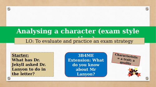 Chapter 9. Dr. Lanyon - exam style question
