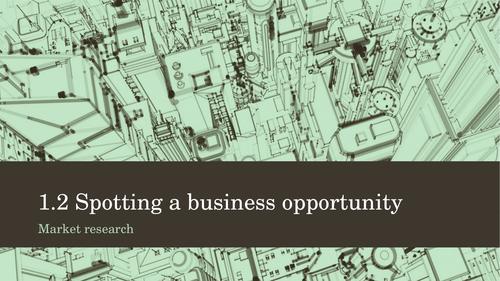 Edexcel Business: 1.2 Market research