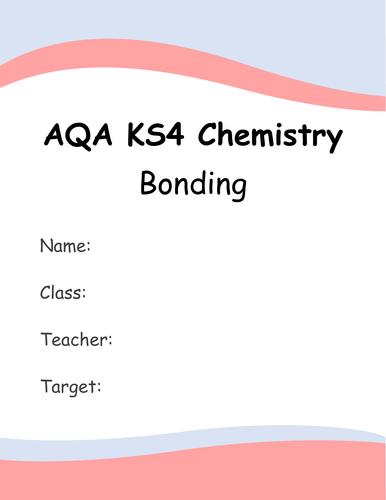 AQA KS4 Chapter 2: Bonding Booklet 1