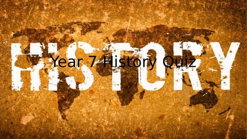 Year 7 History quiz