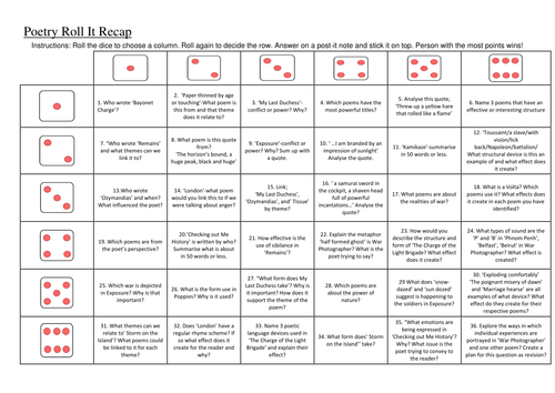 Power and Conflict Revision Dice Game