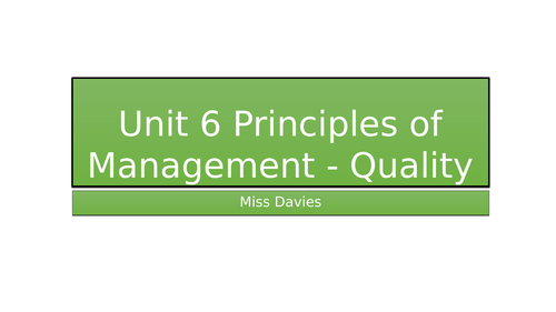 Stakeholders and Quality Management