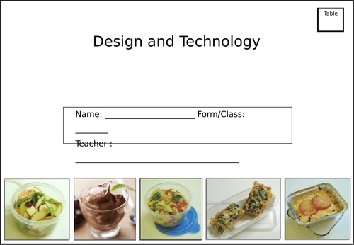 Year 7 Food preparation and nutrition Booklet