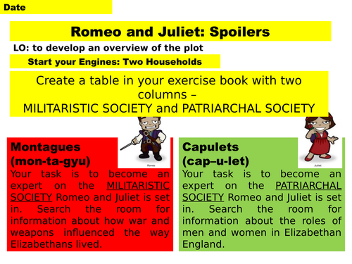 Romeo and Juliet Act 1 AO1/2/3