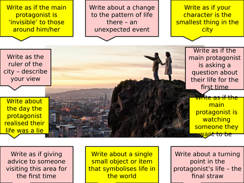 KS4 Fiction Writing - response to an image