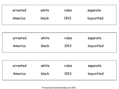 Rosa Parks KS1 Lesson Plan and Worksheet by SaveTeachersSundays – Rosa Parks Worksheet