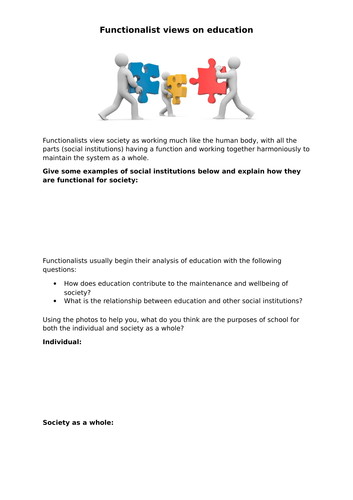 AQA Sociology Functionalist views on education