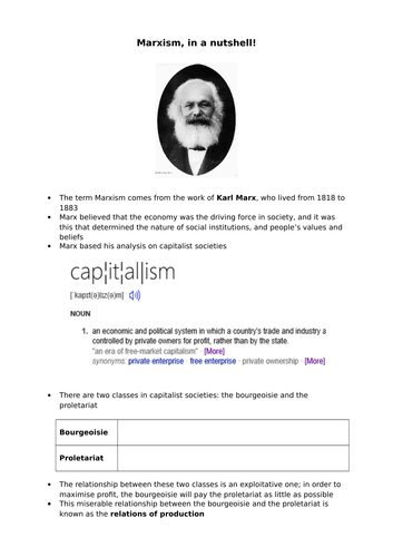 AQA Sociology Marxist views on education