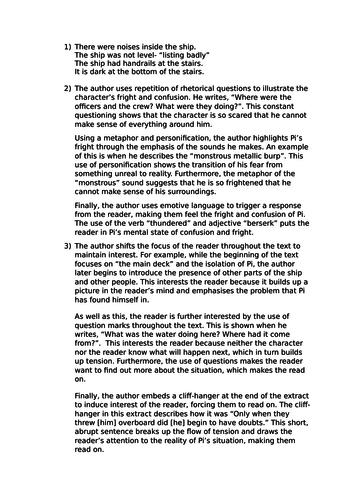 AQA English Language Sample Paper 1 + Mark Scheme + Written Responses