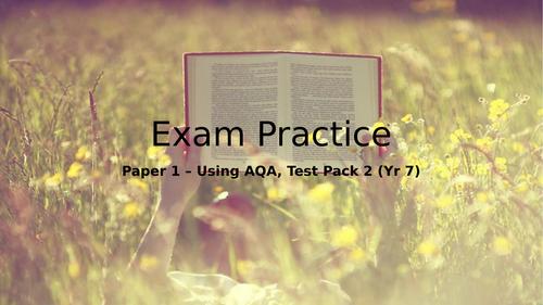 New AQA English Language Paper 1 Exam Prep for Year 7