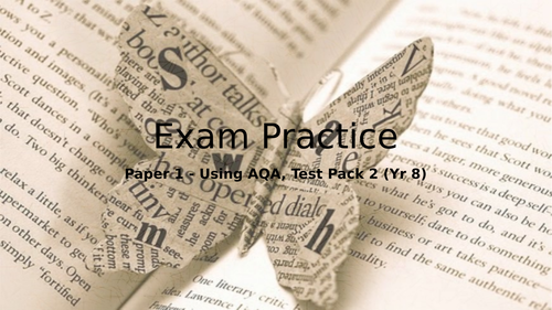 New AQA English Language Paper 1 Exam Prep for Year 8