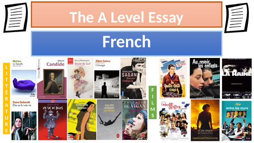 The A Level essay + essay titles (New specifications) (A Level) (Year 2) (French)(2017)