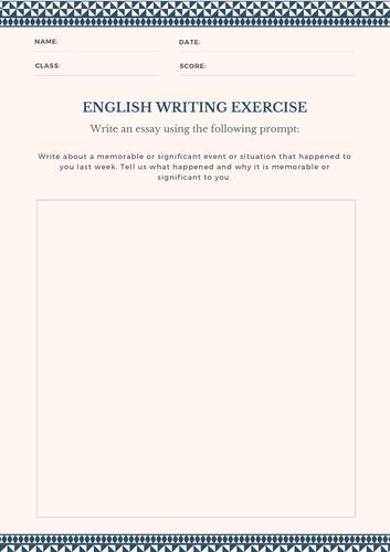 English Writing Prompts