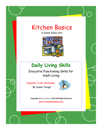 DLS Kitchen Basics Workbook-Daily Living Skills