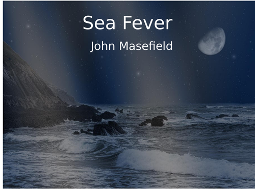 CLASSIC POEM COMPREHENSION SEA FEVER JOHN MASEFIELD WITH ANSWERS