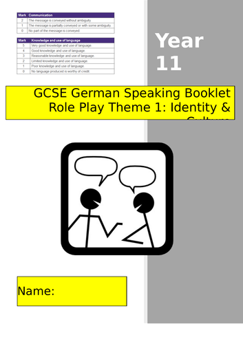 GCSE German Role Play Revision