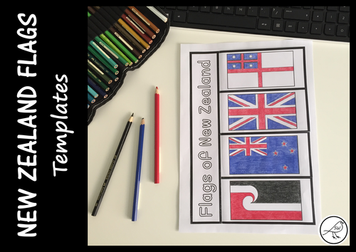 New Zealand Flags - Activity Templates