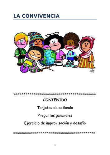 Speaking cards, questions and game La convivencia (new AL2 AQA)